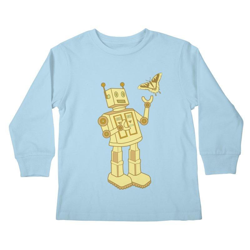 robot Kids Longsleeve T-Shirt by WALLYF's Artist Shop
