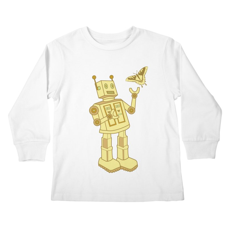 robot Kids Longsleeve T-Shirt by WALLYF's Artist Shop