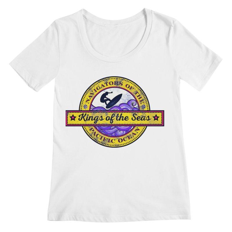Kings of the seas Women's Scoopneck by WALLYF's Artist Shop