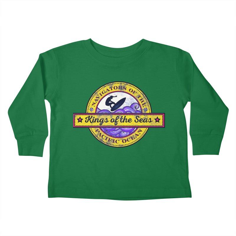 Kings of the seas Kids Toddler Longsleeve T-Shirt by WALLYF's Artist Shop