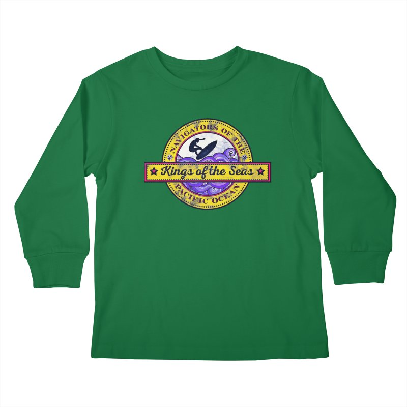 Kings of the seas Kids Longsleeve T-Shirt by WALLYF's Artist Shop