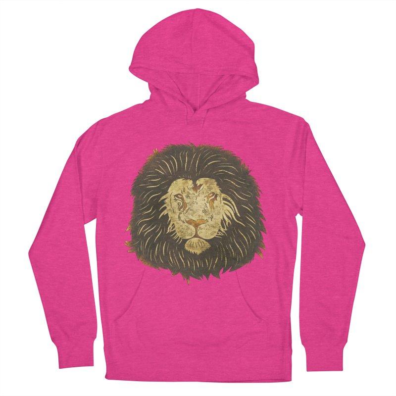 wild lion Men's Pullover Hoody by WALLYF's Artist Shop
