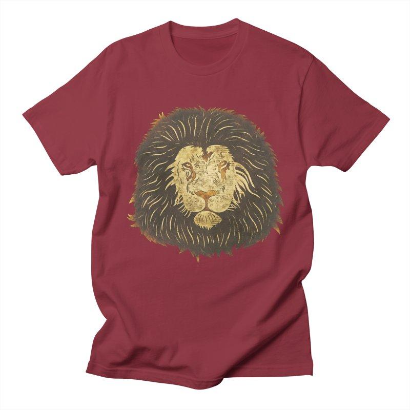 wild lion Men's T-Shirt by WALLYF's Artist Shop