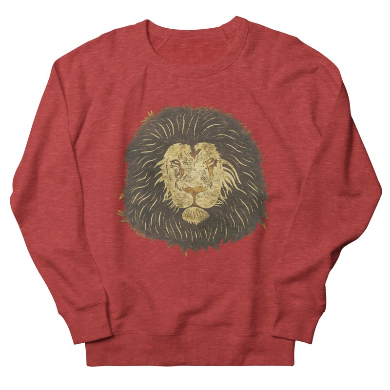 wild lion Women's Sweatshirt by WALLYF's Artist Shop