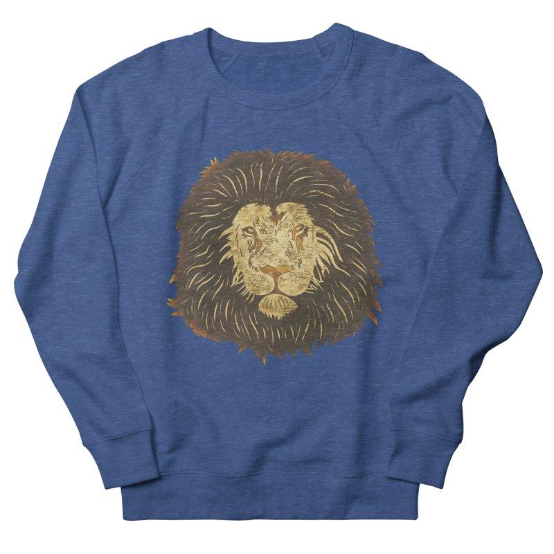 wild lion Men's Sweatshirt by WALLYF's Artist Shop