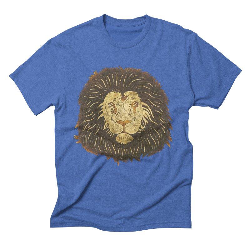 wild lion Men's Triblend T-Shirt by WALLYF's Artist Shop
