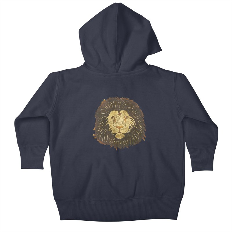 wild lion Kids Baby Zip-Up Hoody by WALLYF's Artist Shop