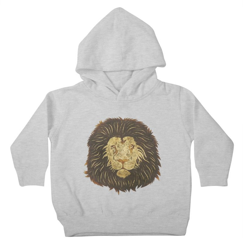 wild lion Kids Toddler Pullover Hoody by WALLYF's Artist Shop