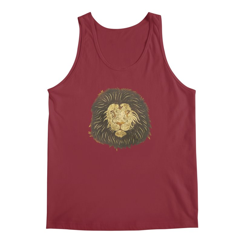 wild lion Men's Tank by WALLYF's Artist Shop