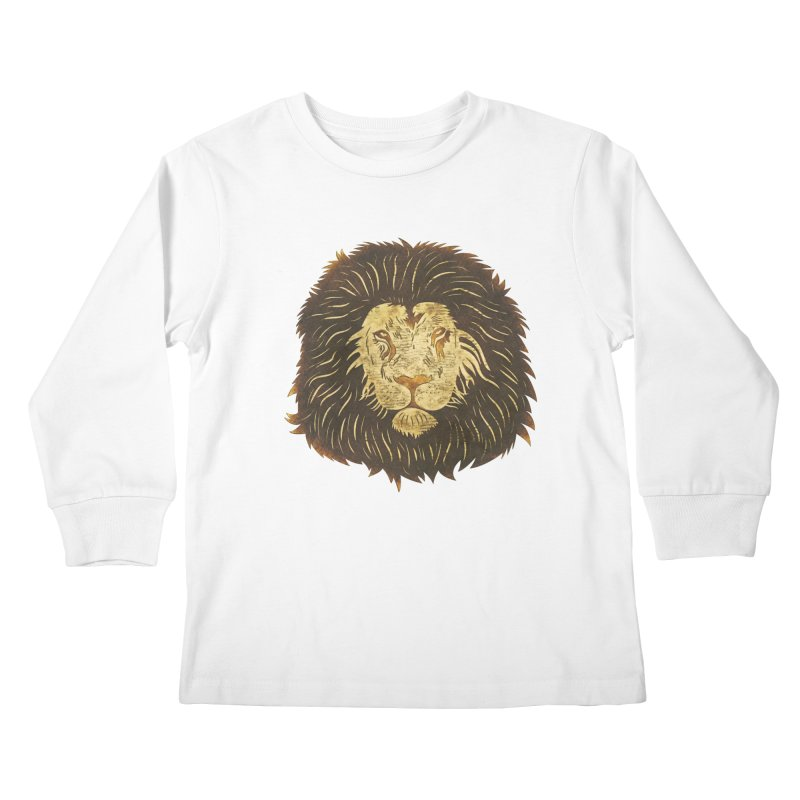 wild lion Kids Longsleeve T-Shirt by WALLYF's Artist Shop