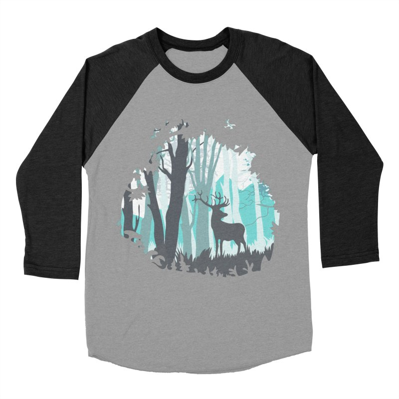 the hidden forest Men's Baseball Triblend T-Shirt by WALLYF's Artist Shop