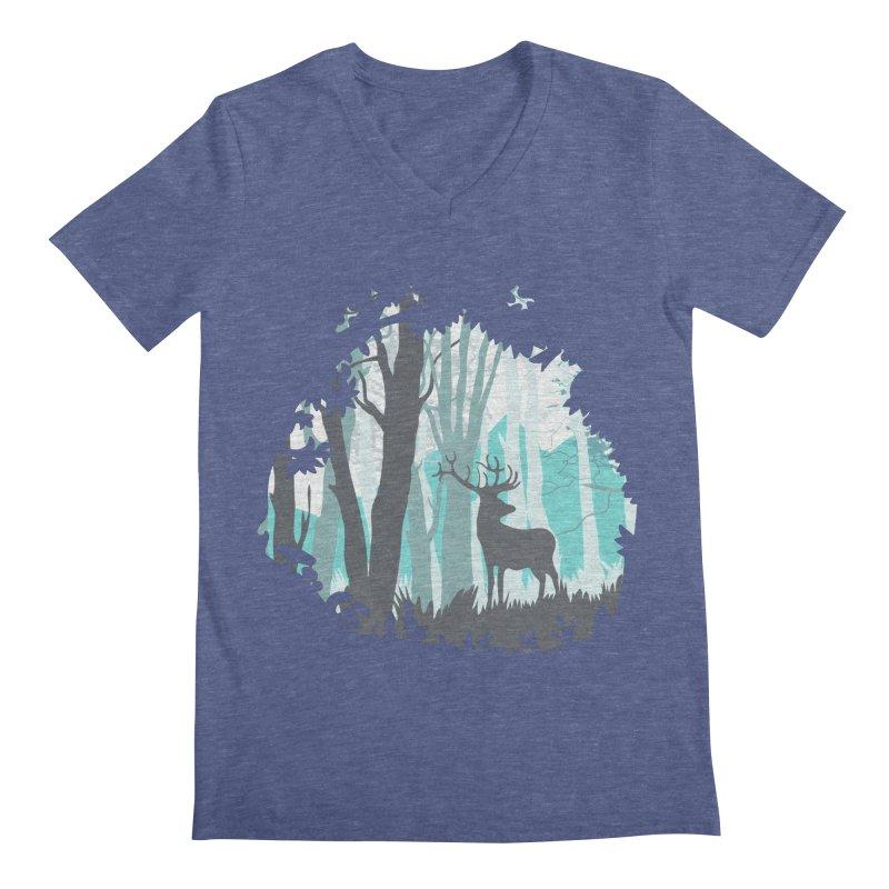 the hidden forest Men's V-Neck by WALLYF's Artist Shop