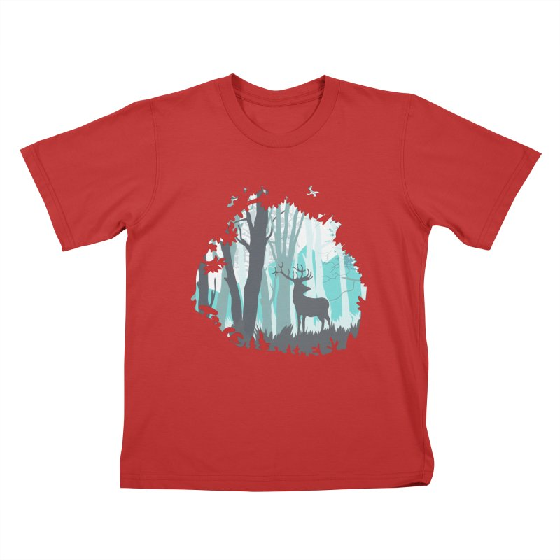 the hidden forest Kids T-Shirt by WALLYF's Artist Shop