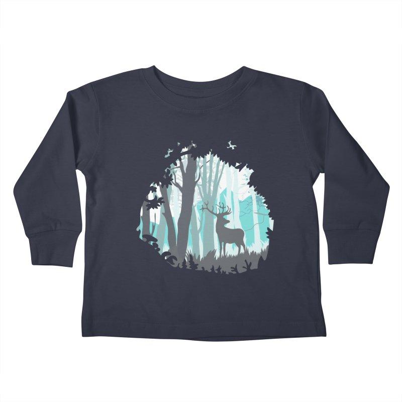 the hidden forest Kids Toddler Longsleeve T-Shirt by WALLYF's Artist Shop