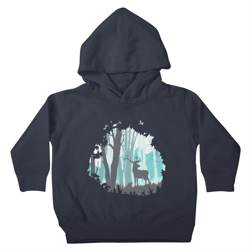the hidden forest Kids Toddler Pullover Hoody by WALLYF's Artist Shop