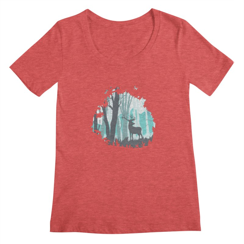 the hidden forest Women's Scoopneck by WALLYF's Artist Shop