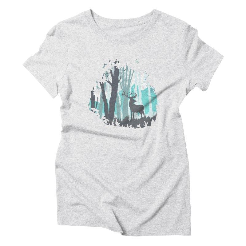 the hidden forest Women's Triblend T-Shirt by WALLYF's Artist Shop