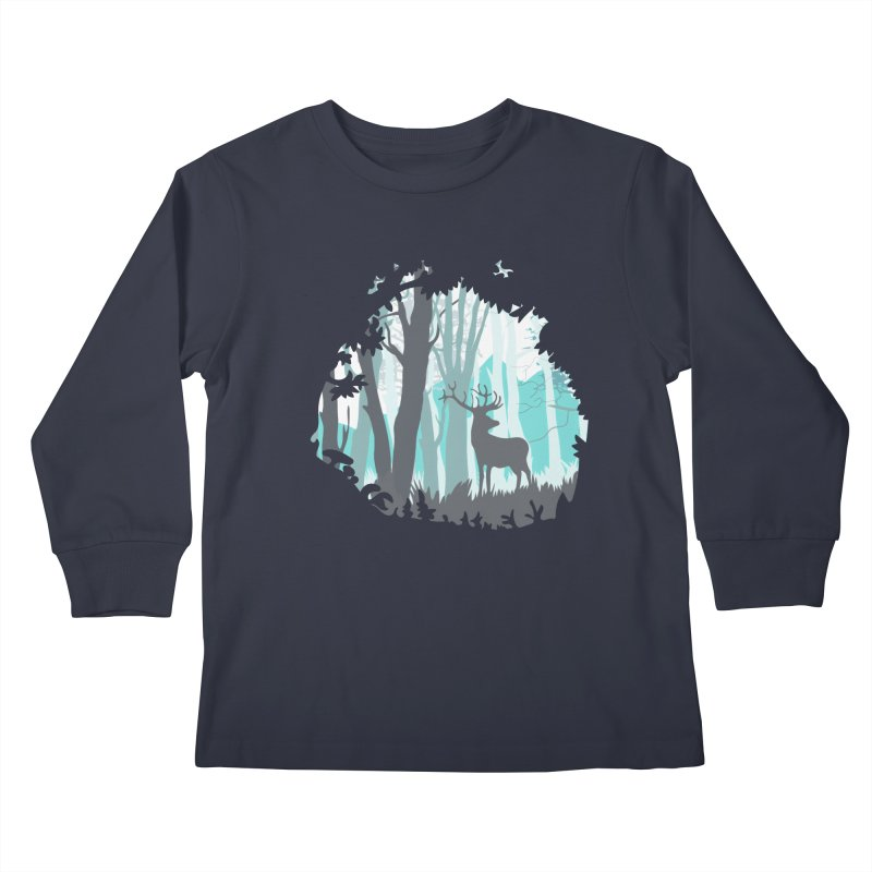 the hidden forest Kids Longsleeve T-Shirt by WALLYF's Artist Shop
