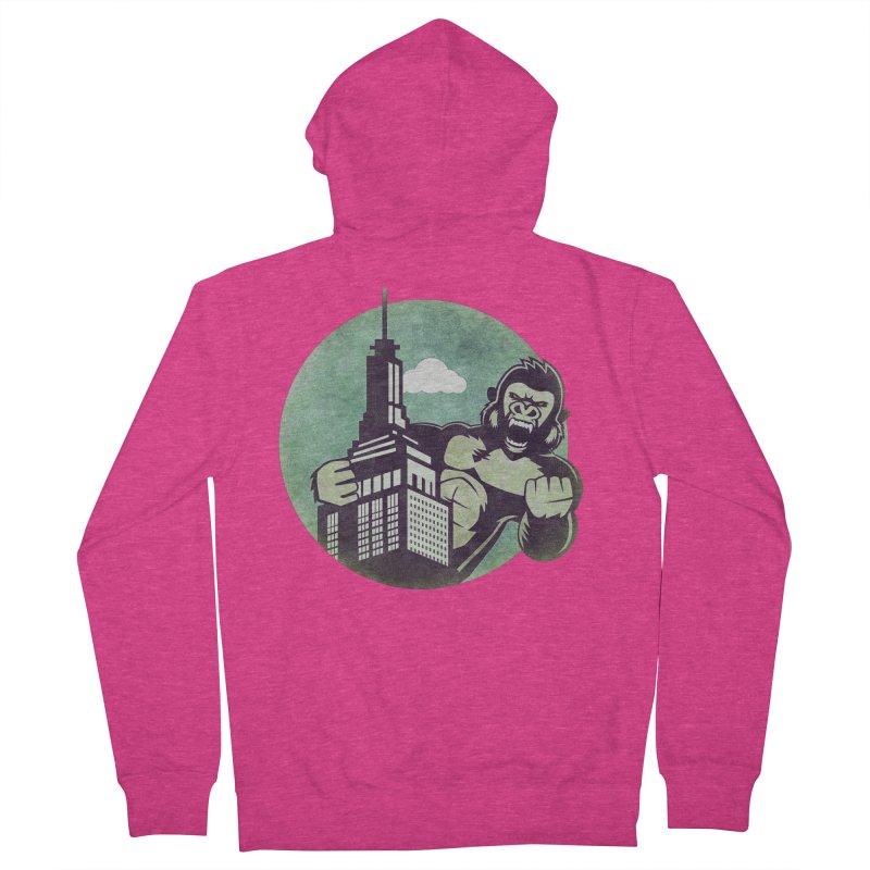 Gorilla Women's Zip-Up Hoody by WALLYF's Artist Shop