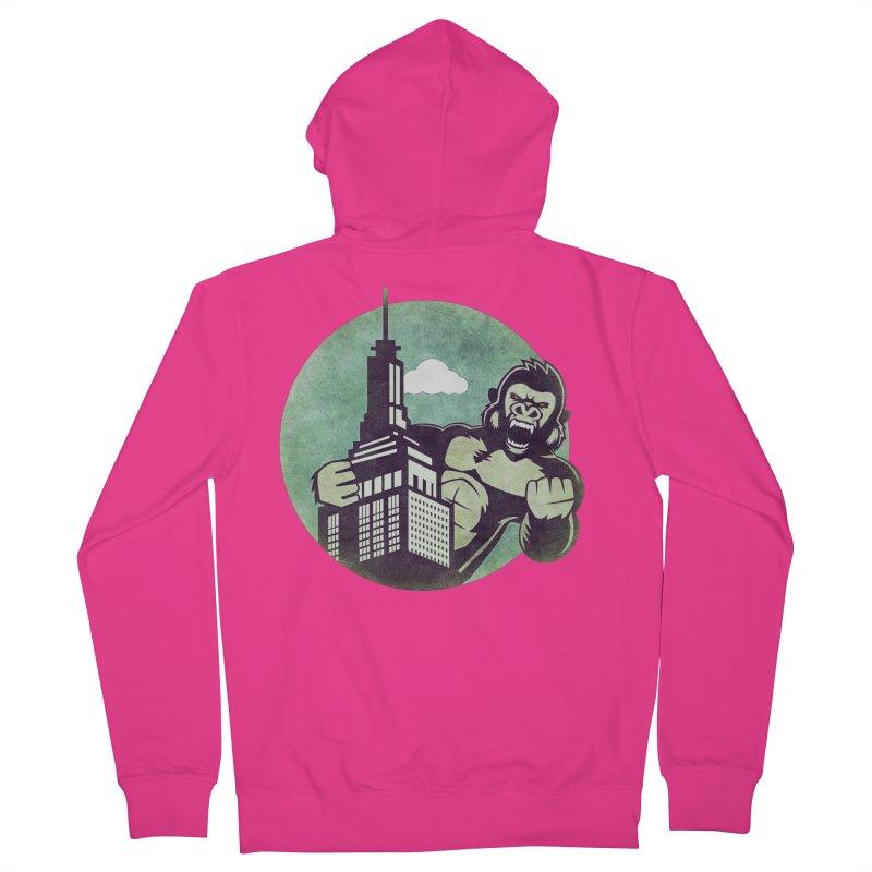 Gorilla Men's Zip-Up Hoody by WALLYF's Artist Shop