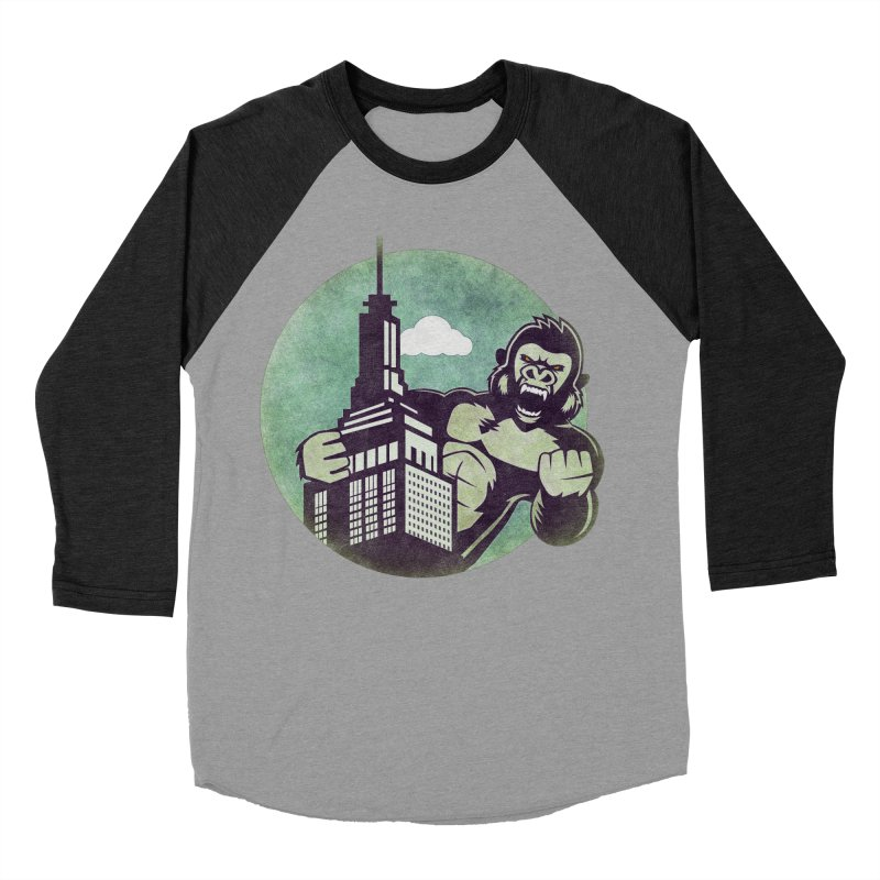 Gorilla Men's Baseball Triblend T-Shirt by WALLYF's Artist Shop