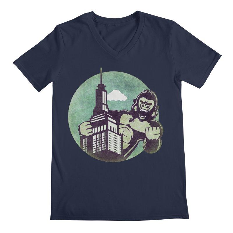 Gorilla Men's V-Neck by WALLYF's Artist Shop