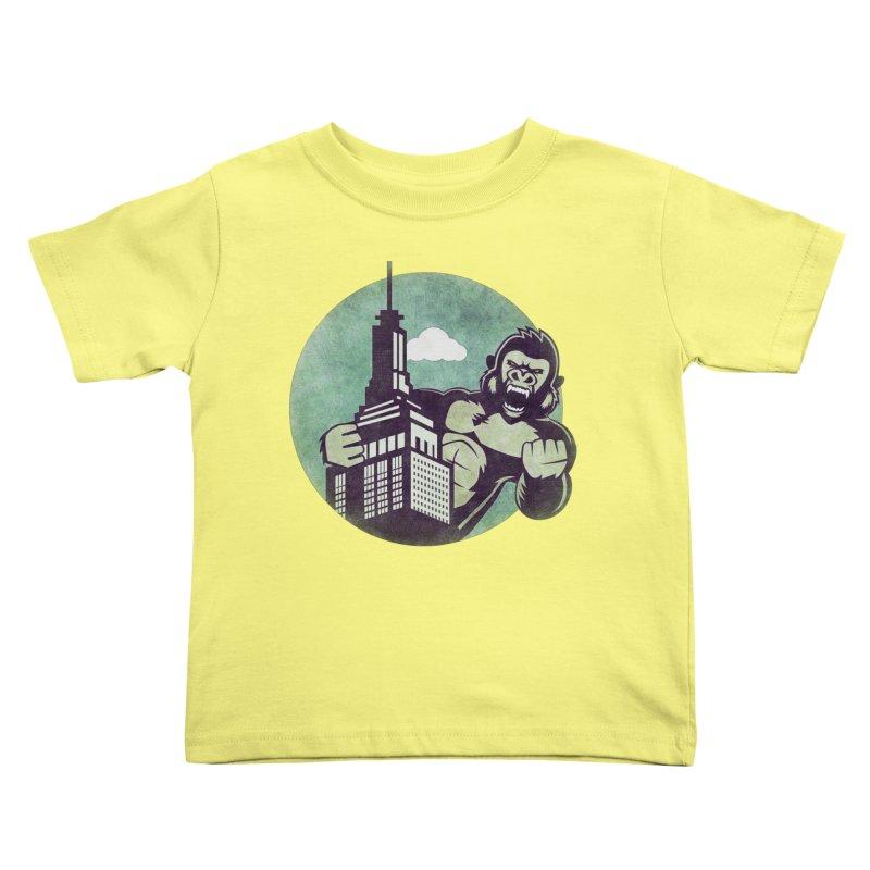 Gorilla Kids Toddler T-Shirt by WALLYF's Artist Shop