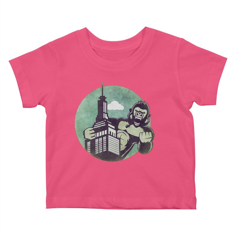 Gorilla Kids Baby T-Shirt by WALLYF's Artist Shop