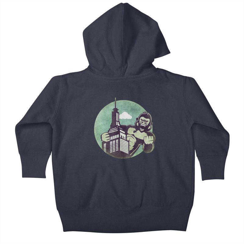 Gorilla Kids Baby Zip-Up Hoody by WALLYF's Artist Shop