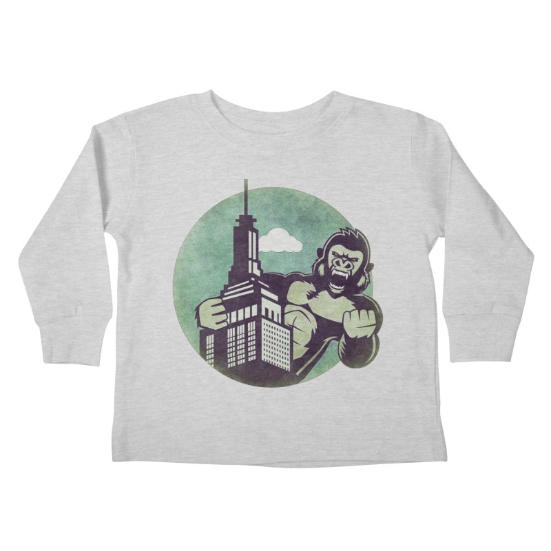 Gorilla Kids Toddler Longsleeve T-Shirt by WALLYF's Artist Shop