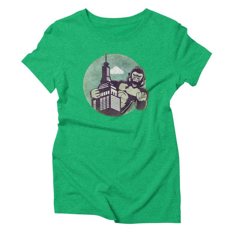 Gorilla Women's Triblend T-Shirt by WALLYF's Artist Shop