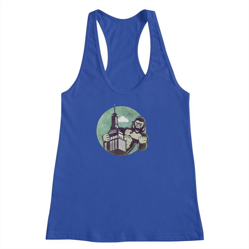 Gorilla Women's Racerback Tank by WALLYF's Artist Shop