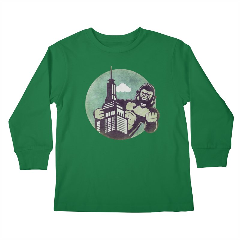 Gorilla Kids Longsleeve T-Shirt by WALLYF's Artist Shop