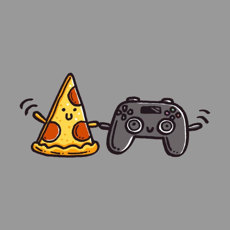 Pizza and games Men's T-Shirt by Walmazan's Artist Shop