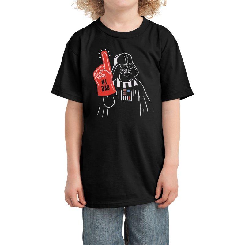 #1 dad Kids T-Shirt by Walmazan's Artist Shop