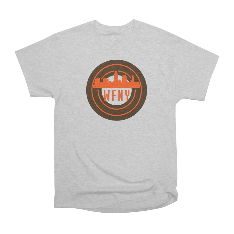 Cleveland Football Circle Men's Heavyweight T-Shirt by WFNY - WaitingForNextYear