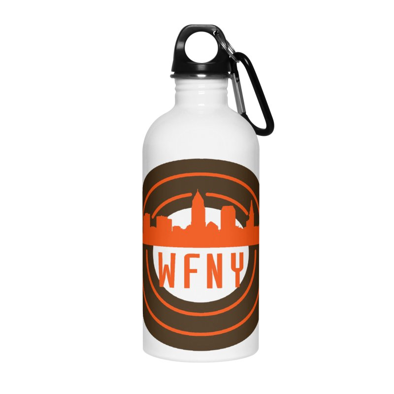 Cleveland Football Circle Accessories Water Bottle by WFNY - WaitingForNextYear