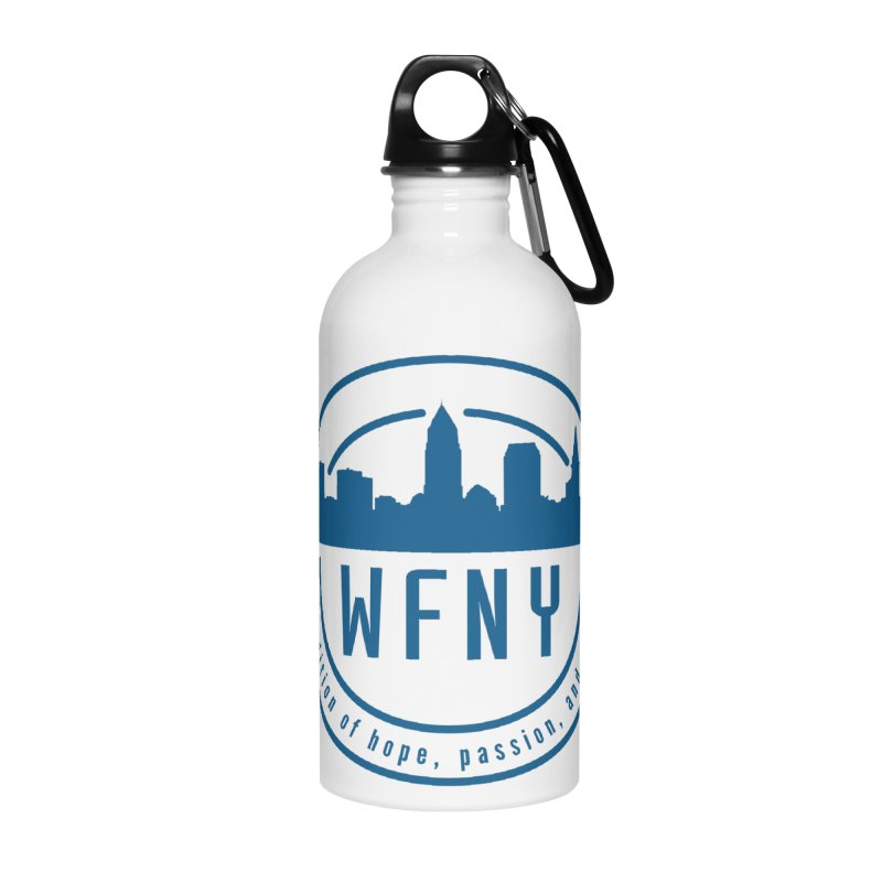 WFNY Logo with Tagline Accessories Water Bottle by WFNY - WaitingForNextYear