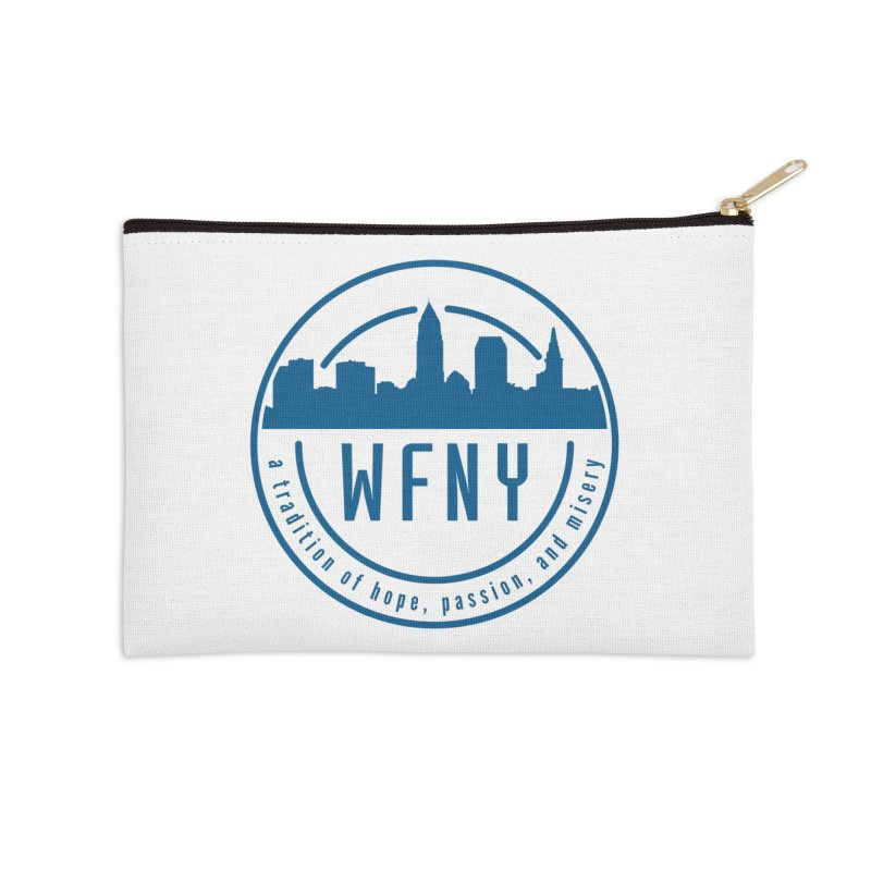 WFNY Logo with Tagline Accessories Zip Pouch by WFNY - WaitingForNextYear
