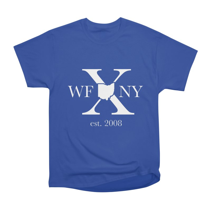 WFNY X White Logo Women's Heavyweight Unisex T-Shirt by WFNY - WaitingForNextYear