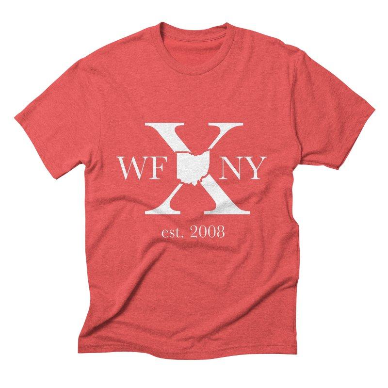 WFNY X White Logo Men's Triblend T-Shirt by WFNY - WaitingForNextYear