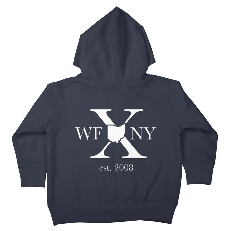WFNY X White Logo Kids Toddler Zip-Up Hoody by WFNY - WaitingForNextYear
