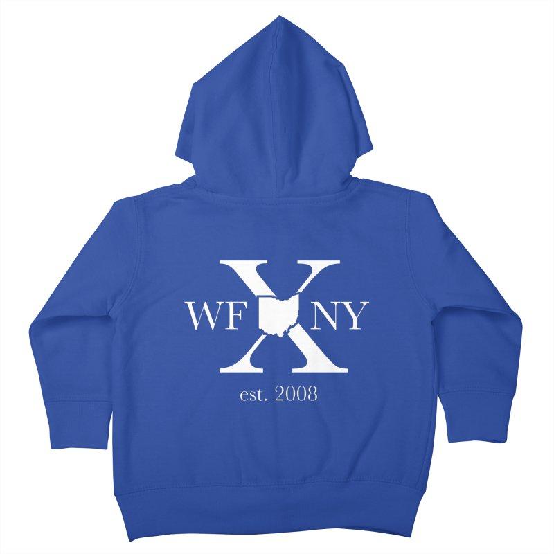 WFNY X White Logo Kids Toddler Zip-Up Hoody by WFNY - WaitingForNextYear