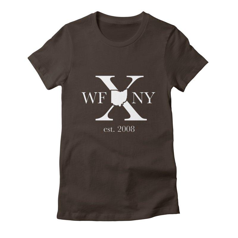 WFNY X White Logo Women's Fitted T-Shirt by WFNY - WaitingForNextYear