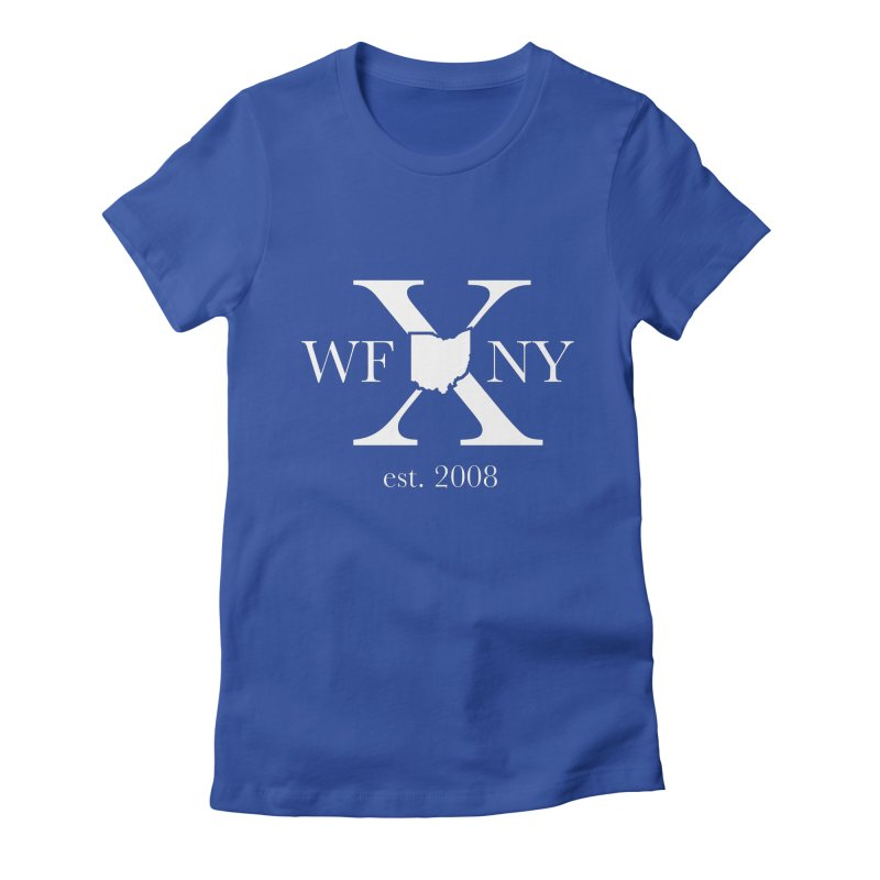 WFNY X White Logo Women's Fitted T-Shirt by WFNY - WaitingForNextYear