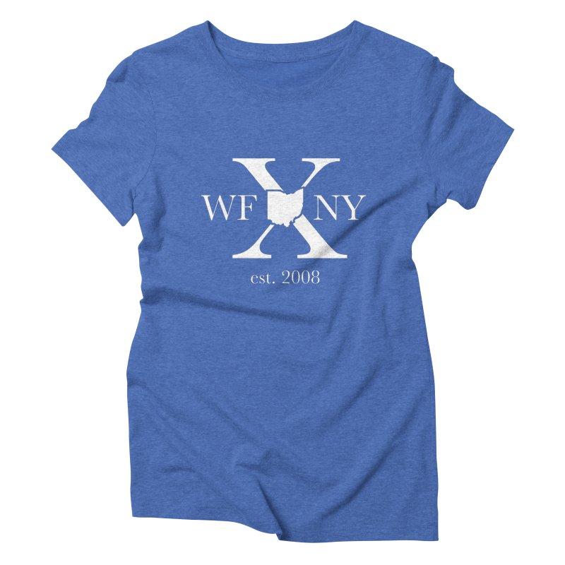 WFNY X White Logo Women's Triblend T-Shirt by WFNY - WaitingForNextYear