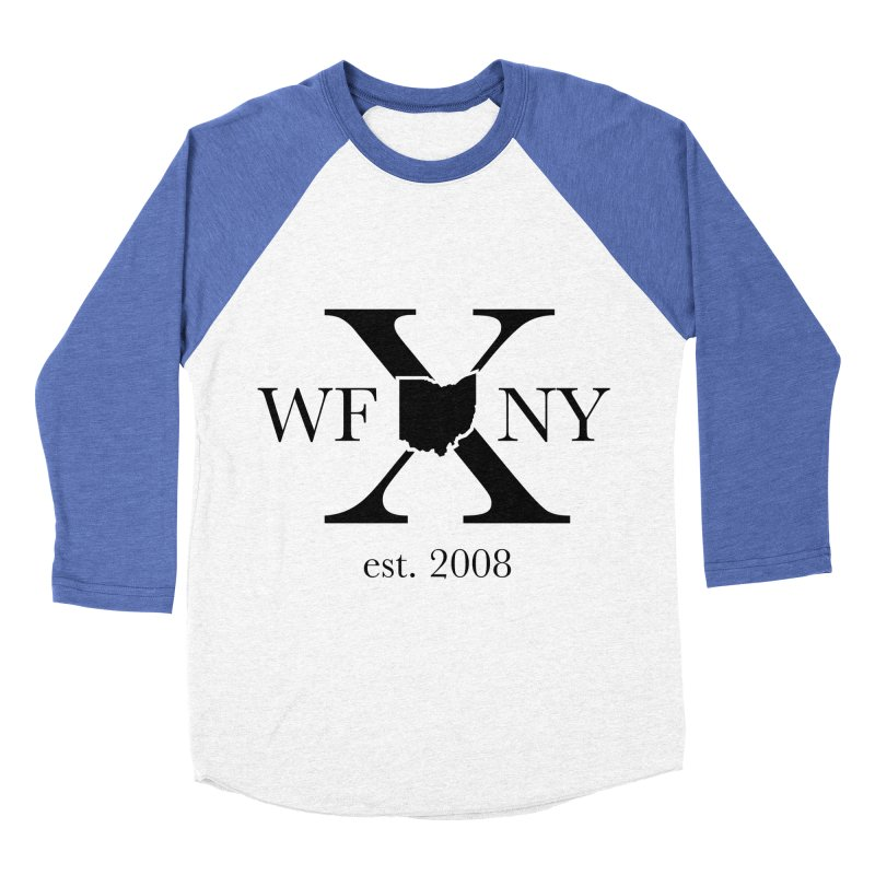 WFNYX Logo Black Women's Baseball Triblend Longsleeve T-Shirt by WFNY - WaitingForNextYear