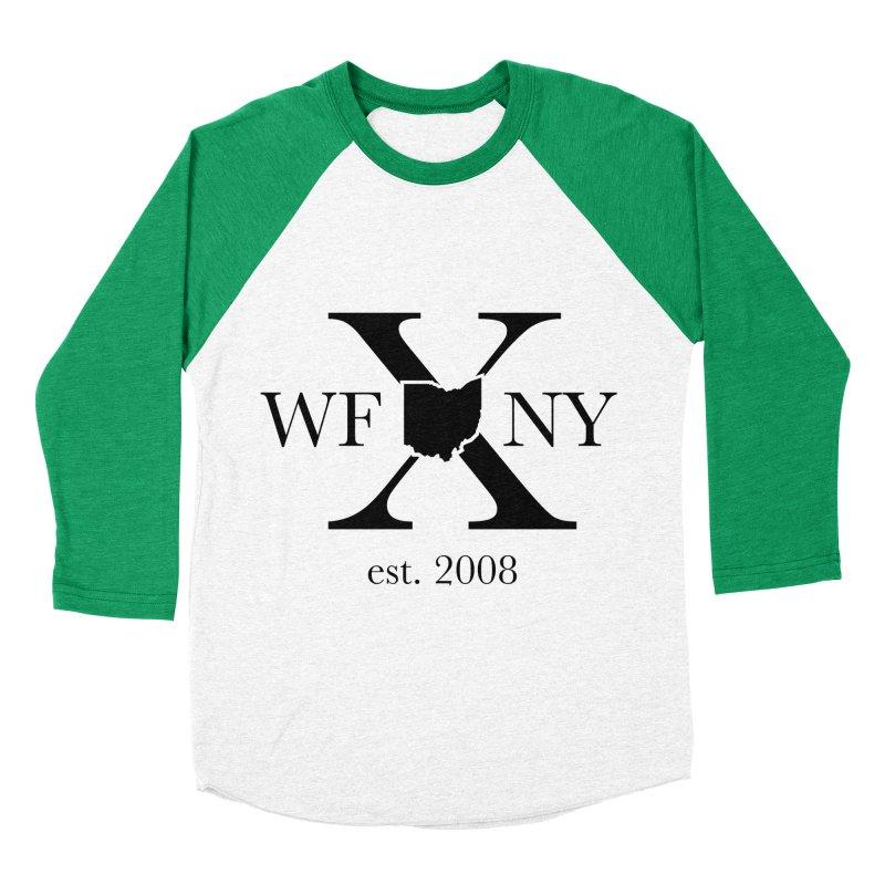 WFNYX Logo Black Men's Baseball Triblend Longsleeve T-Shirt by WFNY - WaitingForNextYear
