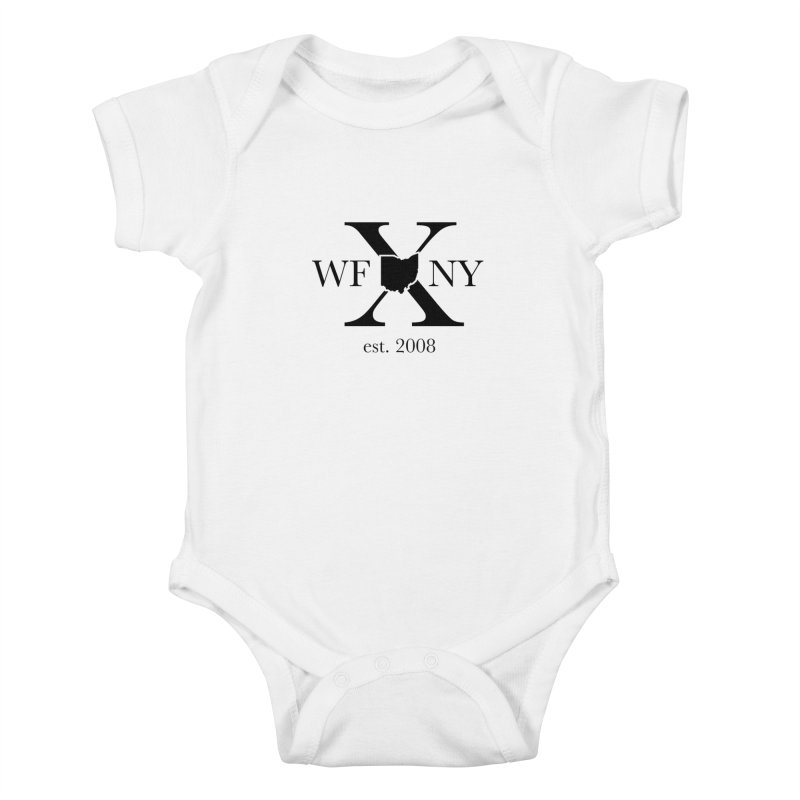 WFNYX Logo Black Kids Baby Bodysuit by WFNY - WaitingForNextYear
