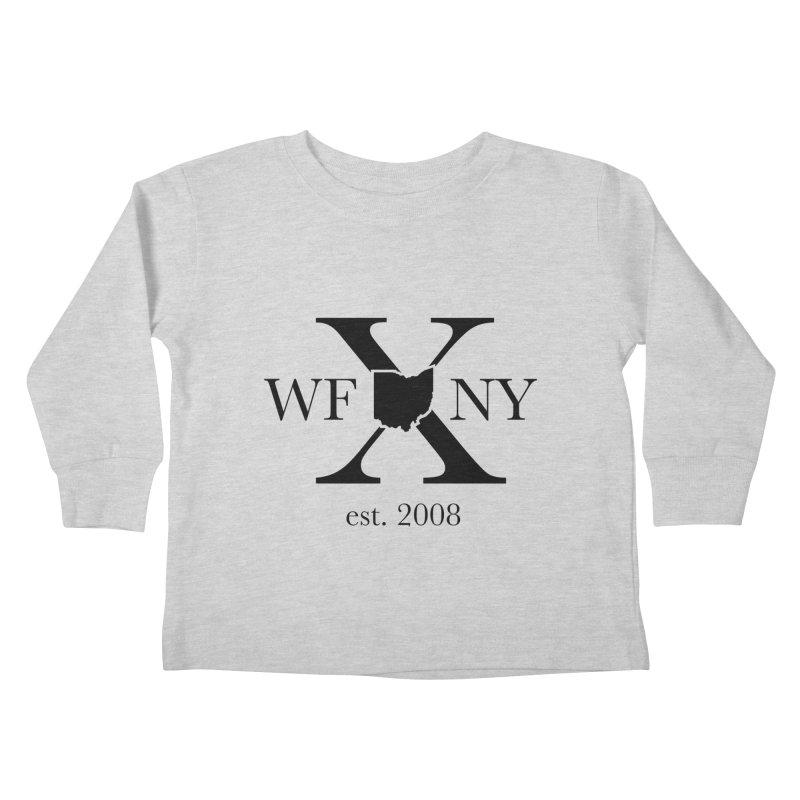 WFNYX Logo Black Kids Toddler Longsleeve T-Shirt by WFNY - WaitingForNextYear